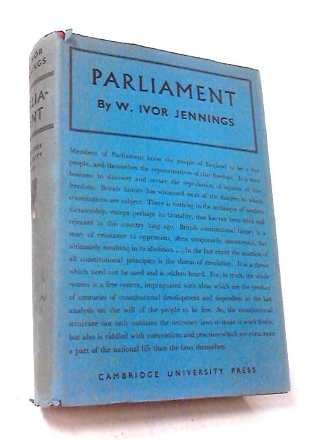 Parliament by Ivor Jennings