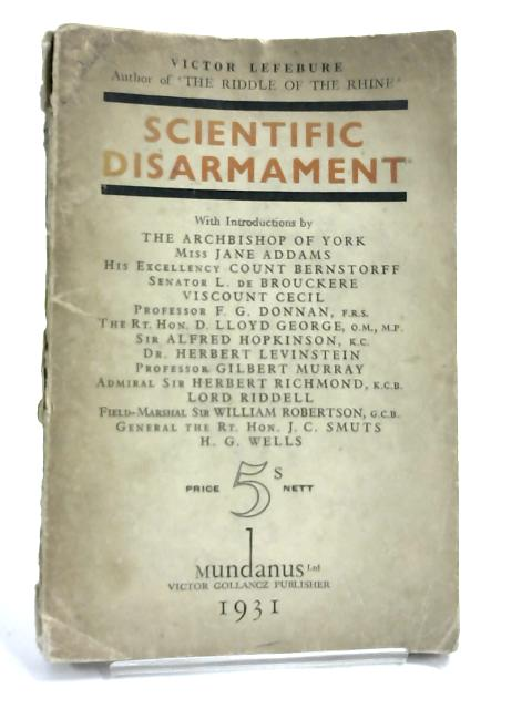 Scientific Disarmament By Victor Lefebure