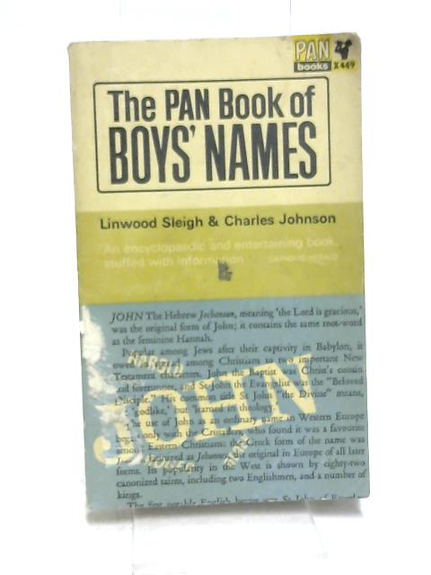 The Pan Book of Boys' Names by Sleigh, Linwood