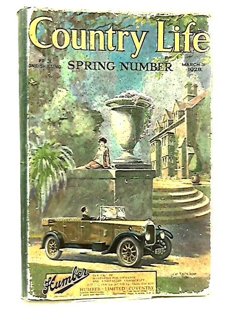 Country Life September 8th 1928 - November 3rd 1928 by Various