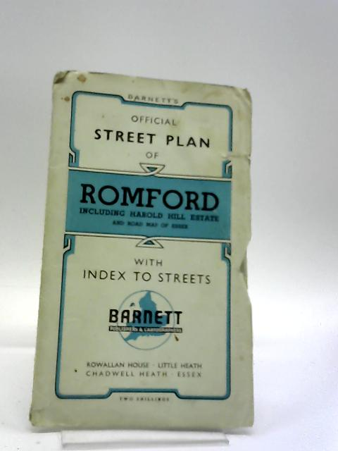 Official Street Plan Of Romford by Unstated