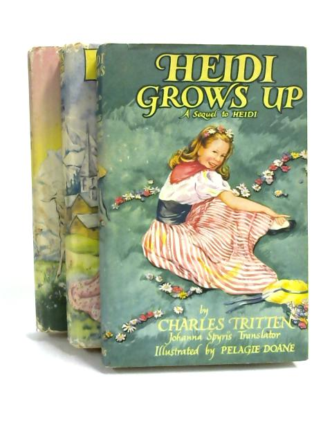 Set of 3 Heidi Books Vintage Hardbacks by Johanna Spyri
