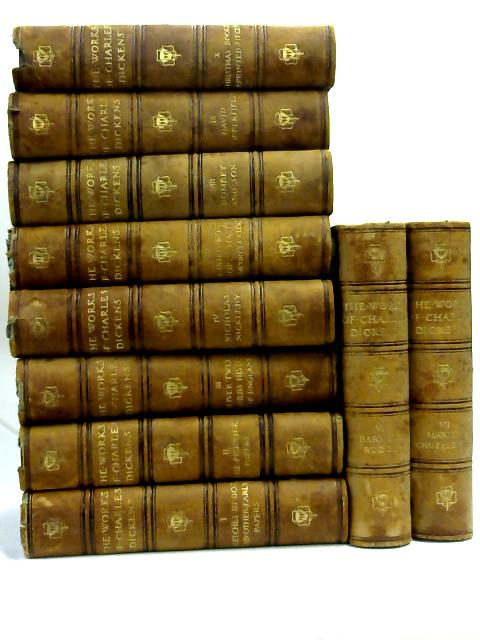 Set of first 10 volumes of Dickens Complete Works by Charles Dickens,