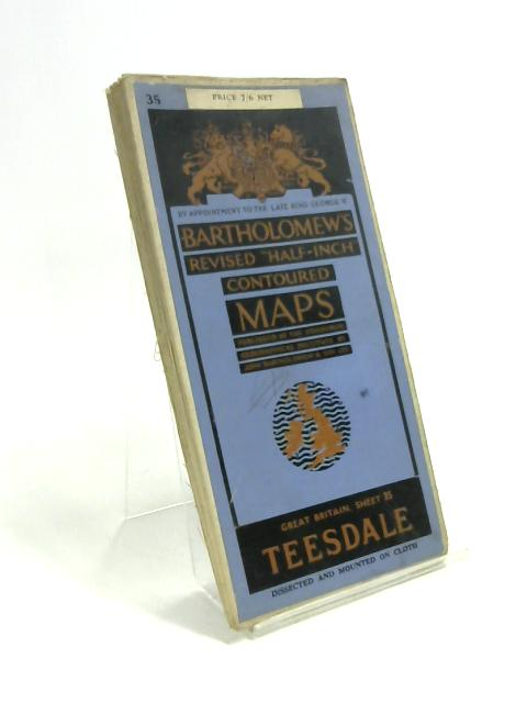 """""""Half-Inch"""" Contoured Maps - TeesDale no. 35 by Anon"""