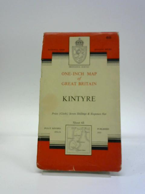 Ordnance Survey One-inch Map of Great Britain. Seventh Series. Sheet 65. Kintyre by Ordnance Survey