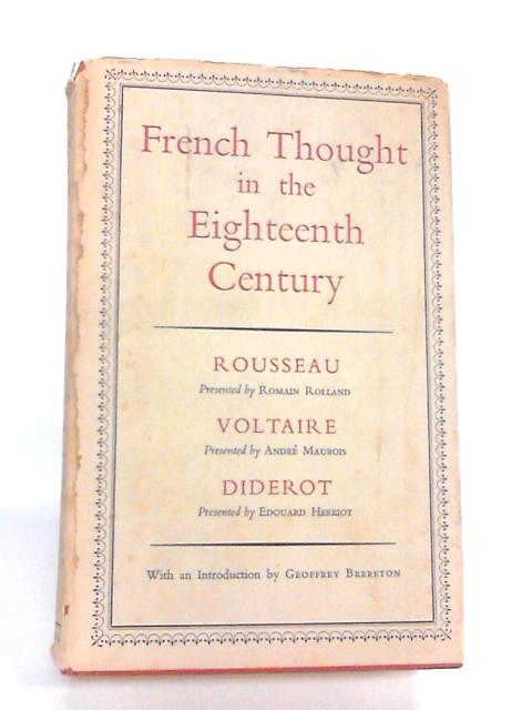 French Thought In The Eighteenth Century By Various