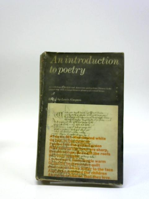 An Introduction To Poetry By Louise Simpson