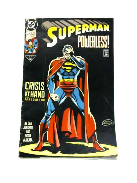 Superman Vol 2 No 72 Oct 1992 By Dan Jurgens