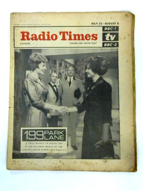 Radio Times, London and South East, July 31st - August 6th 1965 By Unknown