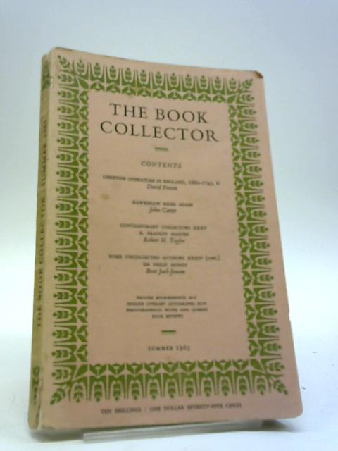 The Book Collector, Volume 12, No. 2, Summer 1963 By Unknown