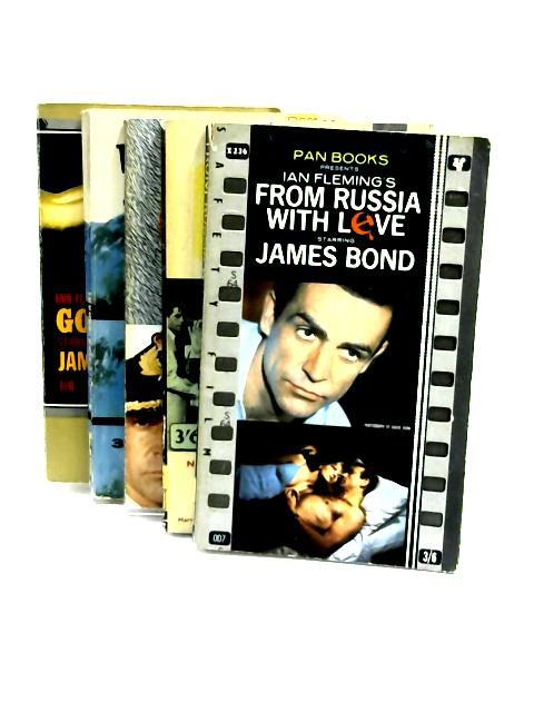 Set of 5 James Bond Books Vintage Paperbacks by Ian Fleming