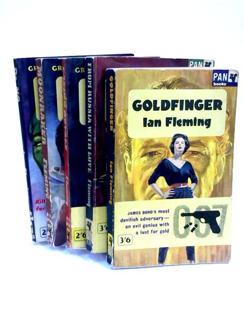 Set of 5 James Bond Novels Vintage Paperbacks by Ian Fleming