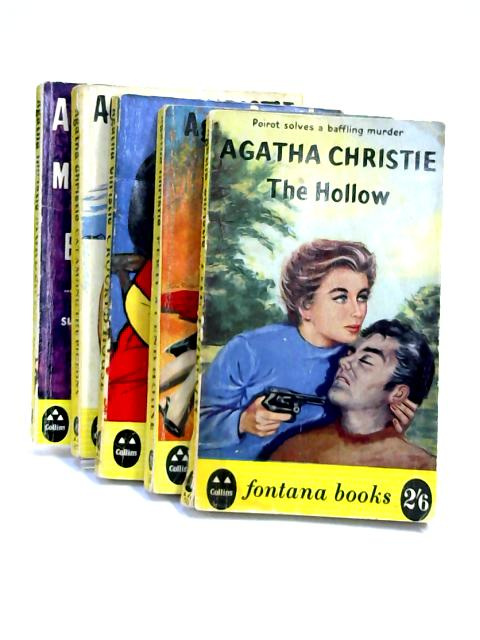 A Set of 5 Agatha Christie Novels Vintage Paperbacks by Agatha Christie