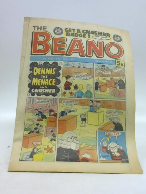 The Beano No. 1847 Dec. 10th 1977 by Unknown