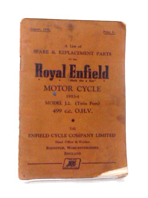 Royal Enfield Motor Cycle 1953-4 Model J.2. (Twin Port) 499 cc O.H.V. by Various