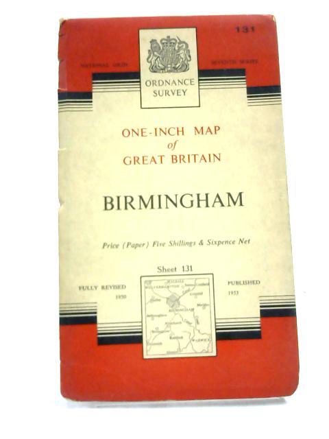 Ordnance Survey. National Grid Birmingham Sheet 131. 1962 by Ordnance Survey