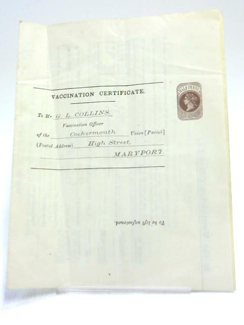 Vaccination Requirement Certificate for 1894 by Anon