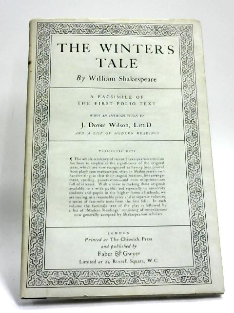 The Winter's Tale (Facsimile of the First Folio Text) by William Shakespeare