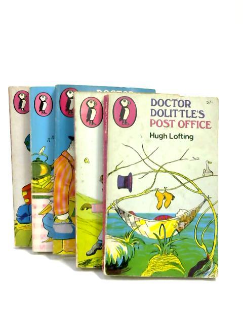Set of 5 Doctor DoLittle Novels Vintage Puffin Paperbacks by Hugh Lofting