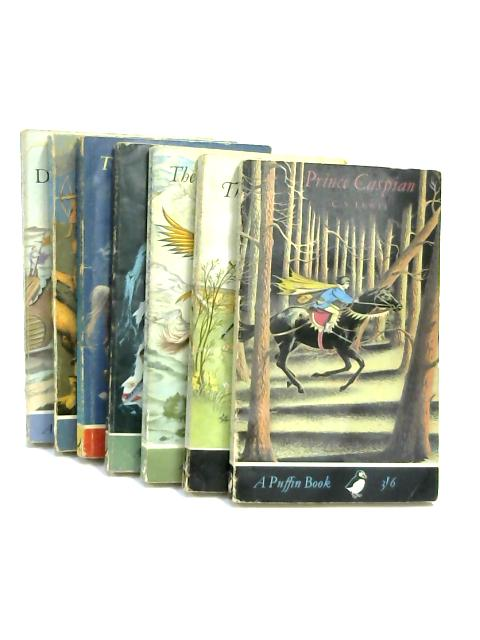 Set of 7 Chronicles of Narnia Vintage Puffin Paperbacks by C.S.Lewis