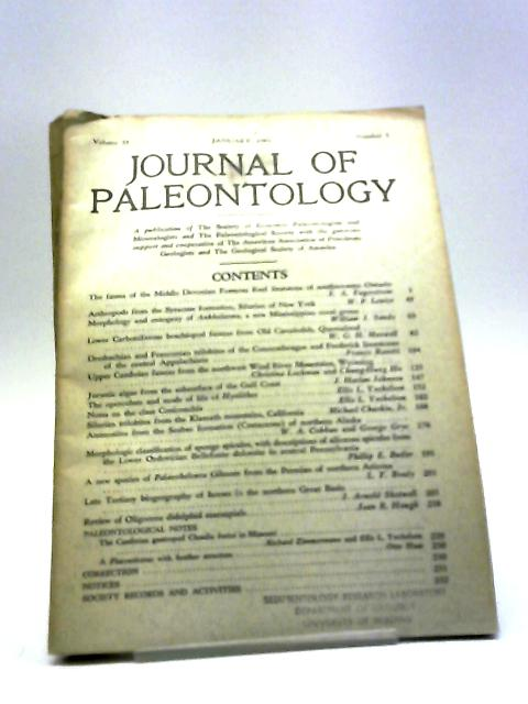 Journal of Paleontology January 1961 by Various