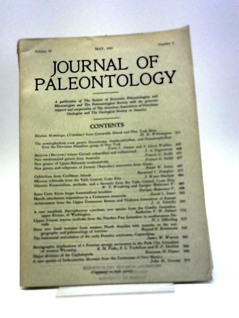 Journal of Paleontology May 1961 by Various