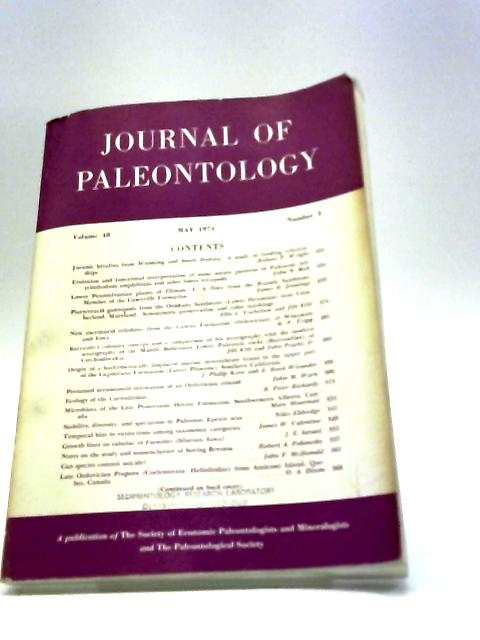 Journal of Paleontology May 1974 By Various