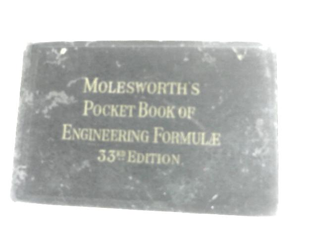 Pocket Book of Useful Formulae by Anon