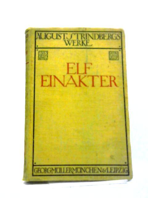 Elf Einakter- German by August Strindberg