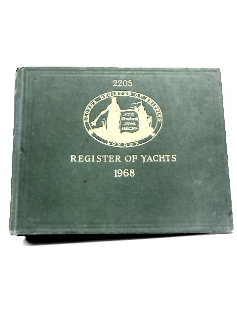 Register of Yachts 1968. By Anon