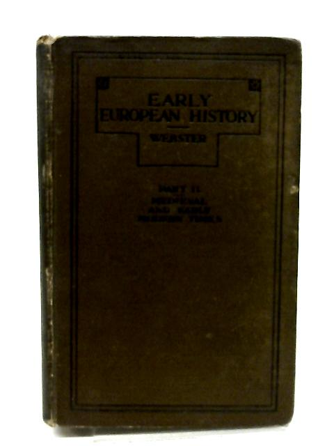 Early European History Part II by Hutton Webster