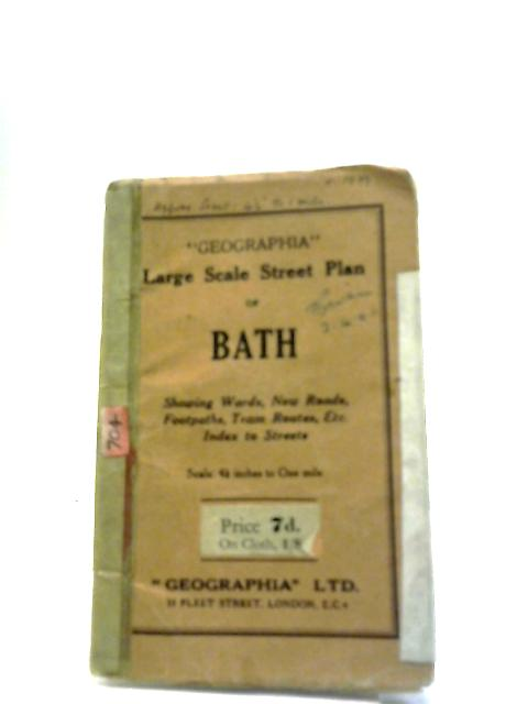 Large Scale Street Plan of Bath by Various