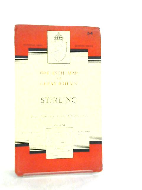 One Inch Map of Great Britain Sheet 54 Stirling By Anon