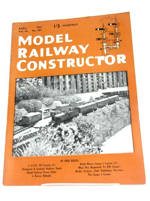 Model Railway Constructor (April 1955) By Anon