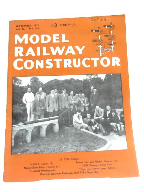 Model Railway Constructor (Sept 1955) By Anon