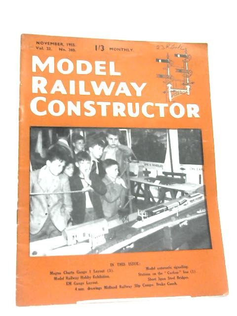 Model Railway Constructor November 1955 By Anon