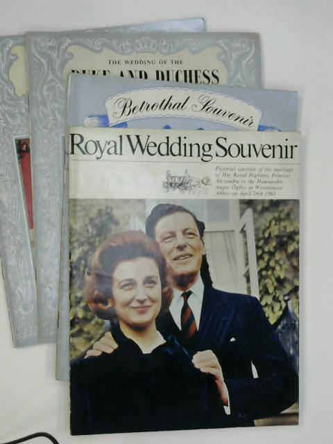 4 x Royal Souvenir Programmes By Anon