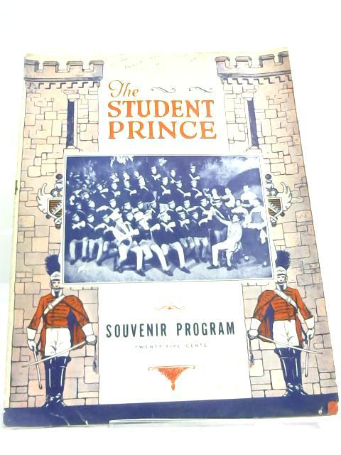 The Student Prince Souvenir Programme 1944 By Anon