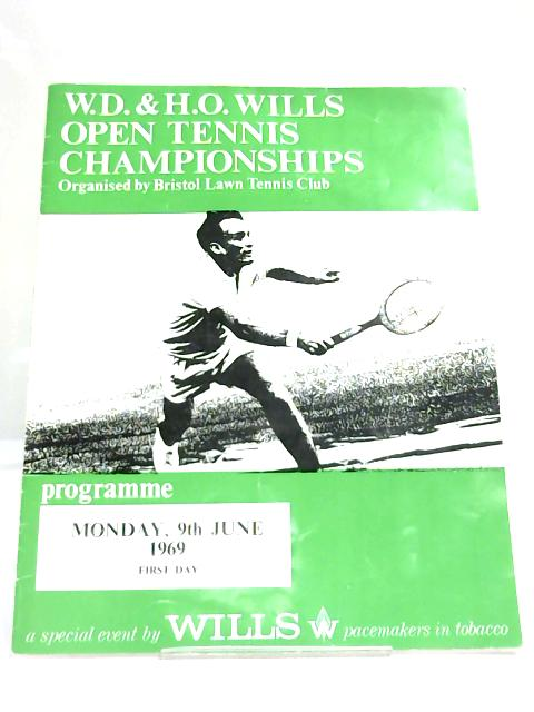 Wills Open Tennis Championship 1969 Programme By Anon