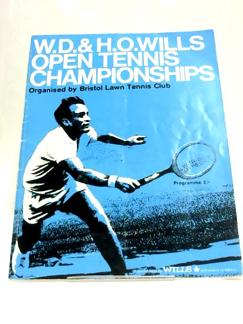 Wills Open Tennis Championship Programme 1970 By Anon