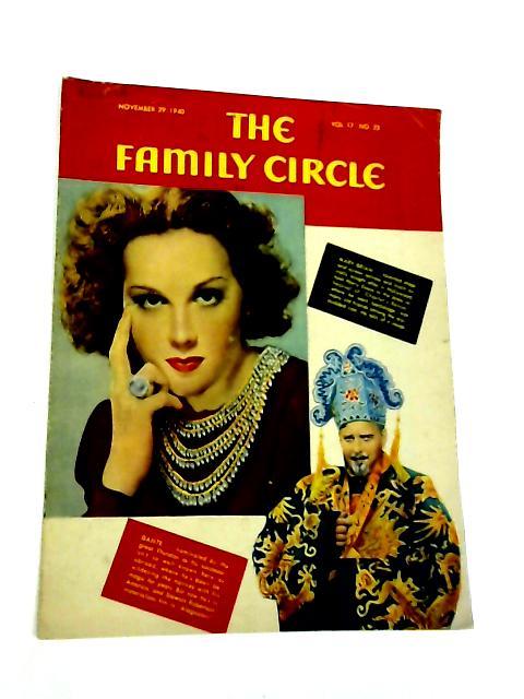 The Family Circle, Vol. 17, No. 22, November 29 1940 By Harry H. Evans