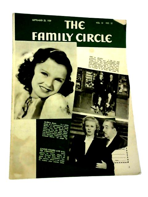 The Family Circle, Vol. 15, No. 12, September 22 1939 By Harry H. Evans