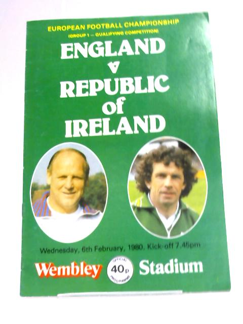 England v. Republic of Ireland 1980 Euro's By Anon