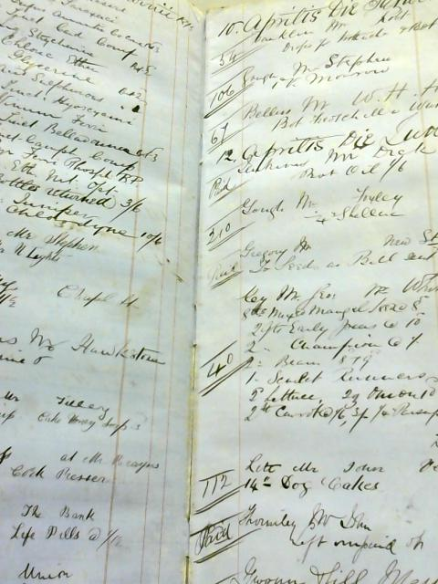 Chemists' Account Book 1870's French-English By Anon