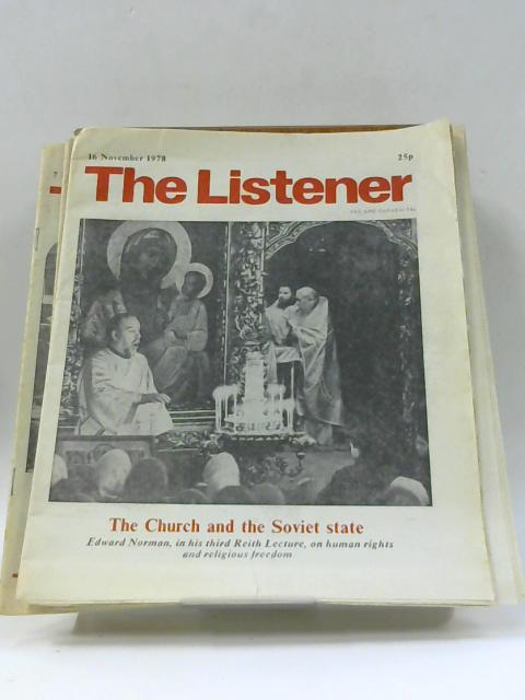 The Listener, 16 November - 7 December 1978 By Unknown