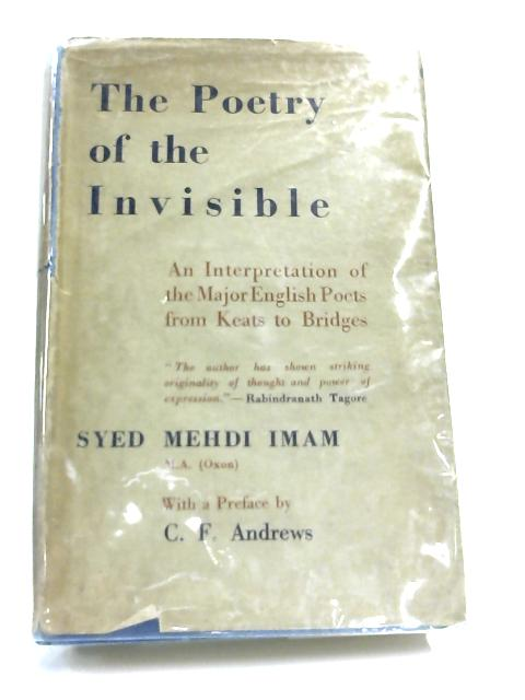 The Poetry of the Invisible By Syed Mehdi Imam