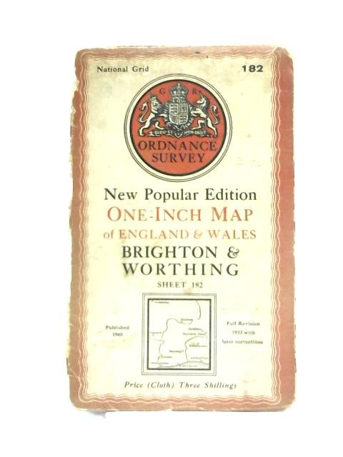 One-Inch Map of England Wales: Brighton and Worthing By Anon