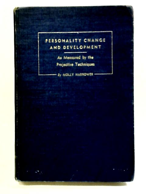 Personality change and development by Harrower, Molly