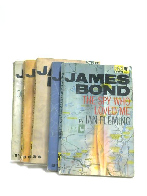 Set of 5 James Bond Novels Vintage Paperbacks by Ian Fleming,