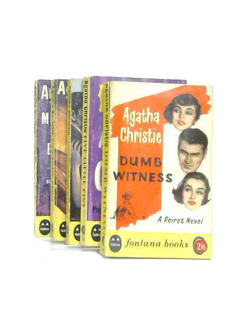 Set of 5 Agatha Christie Novels Vintage Paperbacks by Agatha Christie